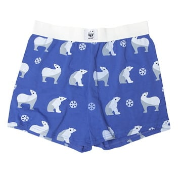 Blue Polar Bear Boxers