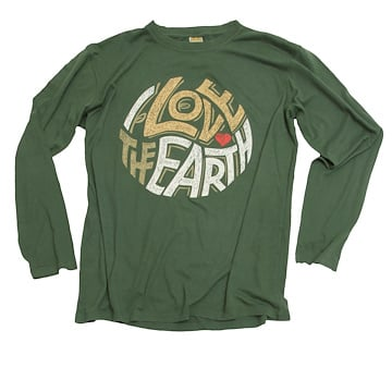 Long Sleeve I Love The Earth (Unisex)