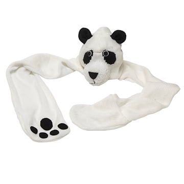 Panda Knit Hat with Paws