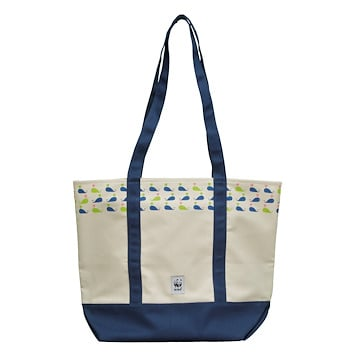 Whale Canvas Tote