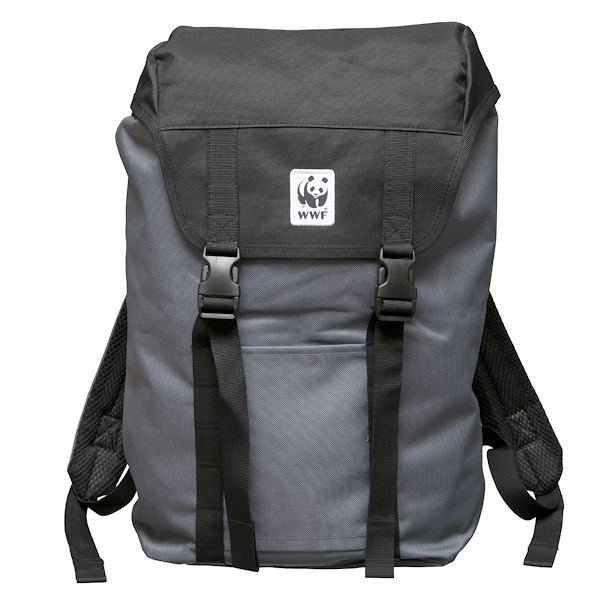 recycle plastic backpack with wwf logo